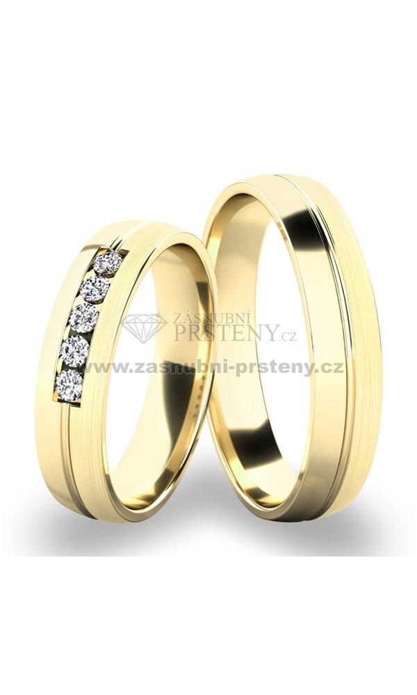 Zlate Snubni Prsteny Sp 287 Zasnubni Prsteny Cz