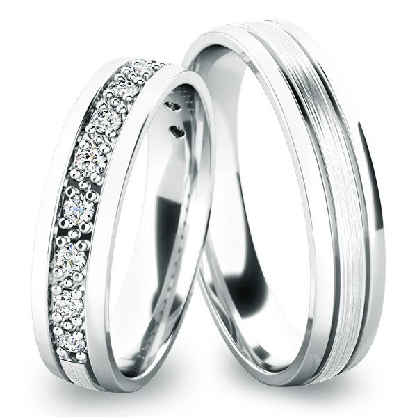 Stříbrné snubní prsteny SP-61052-Ag