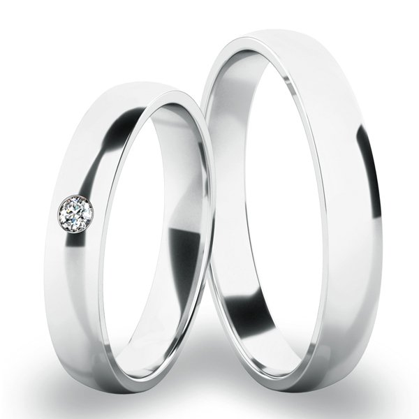 Snubní prsteny bílé zlato SP-286-01