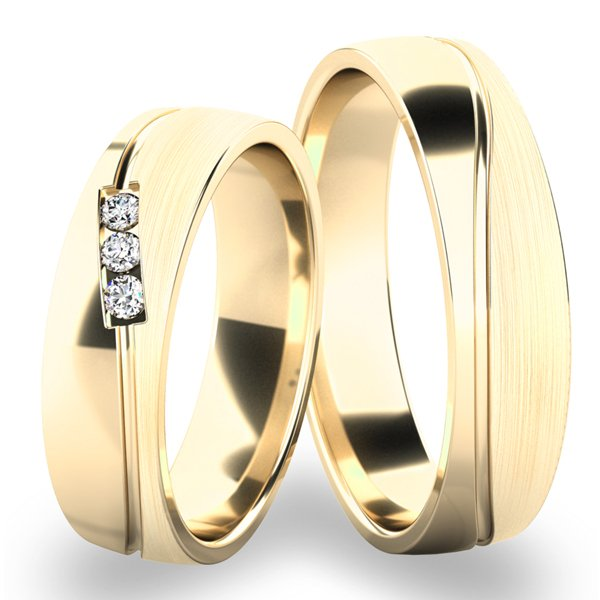 Zlaté nubní prsteny SP-284