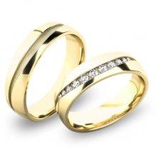 Zlaté snubní prsteny SP-61057