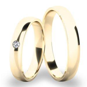 Snubní prsteny žluté zlato SP-286-01