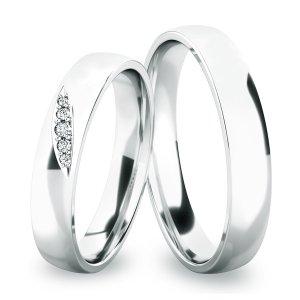 Snubní prsteny - stříbro SP-61038-Ag