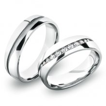 Snubní prsteny - bílé zlato SP-61057