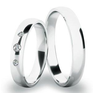 Snubní prsteny bílé zlato SP-286-03