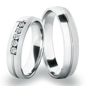 Snubní prsteny z bílého zlata SP-287