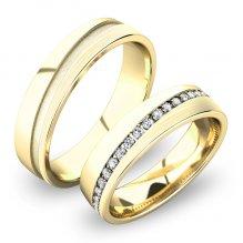 Zlaté snubní prsteny SP-61056