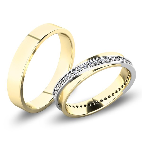 Snubní prsteny - žluté zlato SP-61070Z