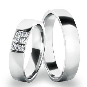 Snubní prsteny - bílé zlato SP-61073B