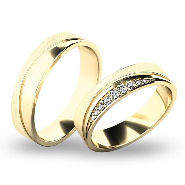Snubní prsteny - žluté zlato SP-61068Z