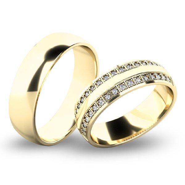 Snubní prsteny ze žlutého zlata SP-61074Z