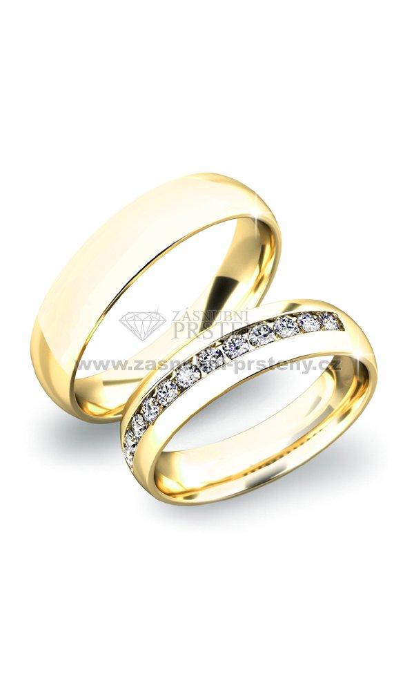 Zlate Snubni Prsteny Sp 61024z Zasnubni Prsteny Cz