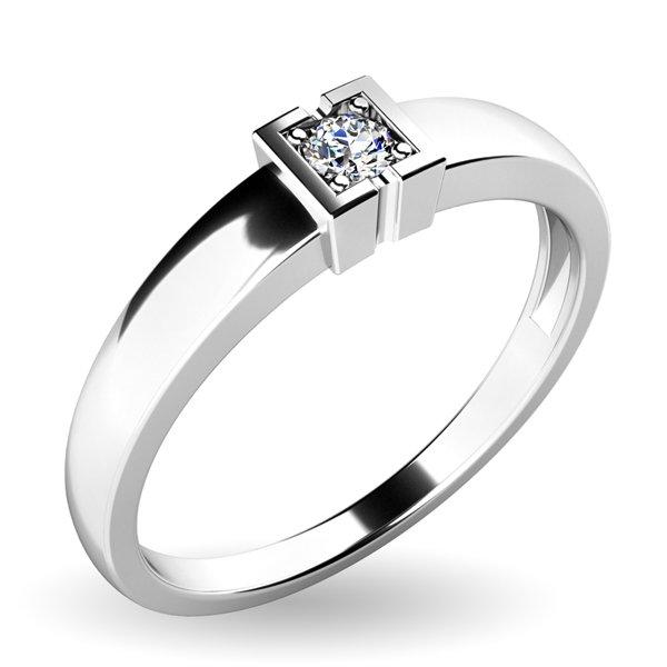 Zásnubní prsten se zirkonem ZP-08a