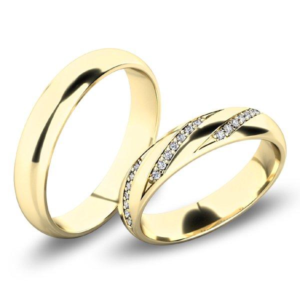 Snubní prsteny - žluté zlato SP-61069Z
