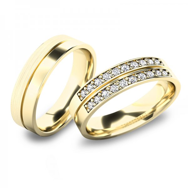 Snubní prsteny ze žlutého zlata SP-61077