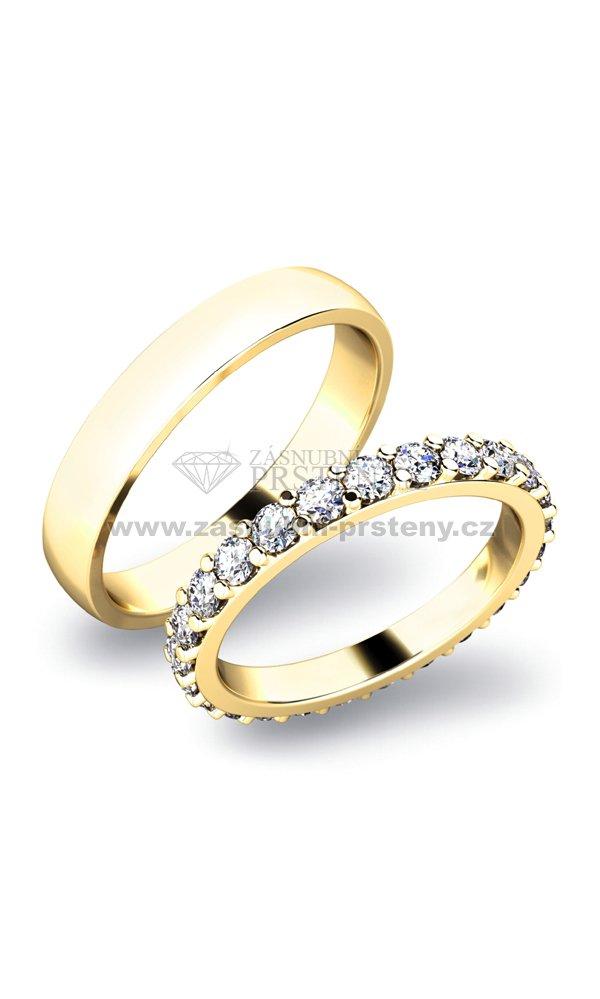 Snubni Prsteny Zlate Sp 61029z Zasnubni Prsteny Cz