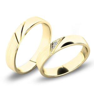 Snubní prsteny ze žlutého zlata SP-61076Z