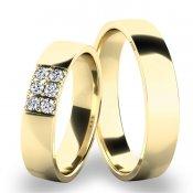 Snubní prsteny - žluté zlato SP-61073Z