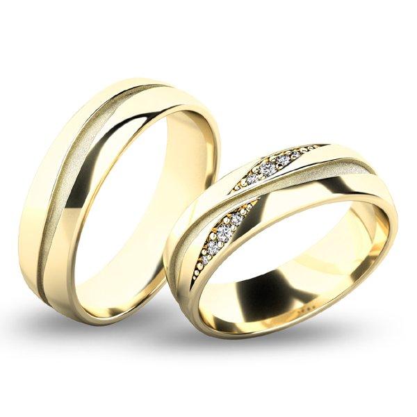 Snubní prsteny ze žlutého zlata SP-61071Z