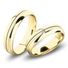 Snubní prsteny ze žlutého zlata SP-61067Z