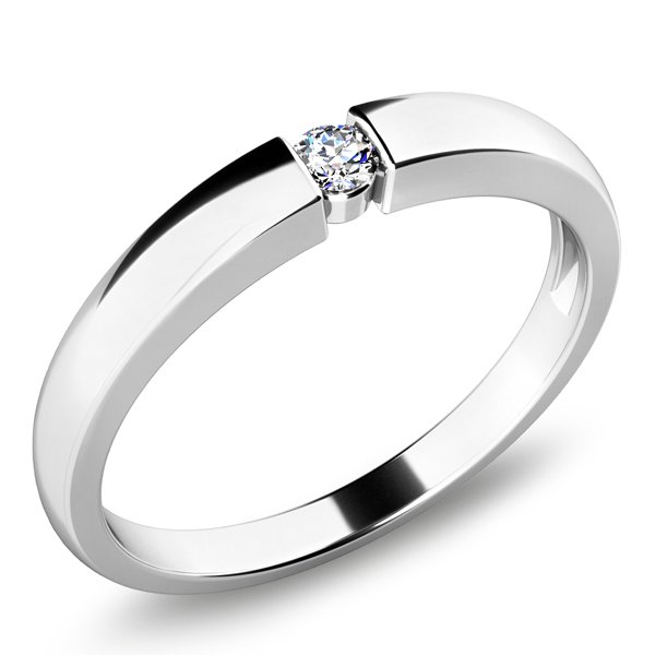 Zásnubní prsten se zirkonem ZP-10935
