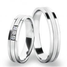 Snubní prsteny z bílého zlata SP-61062B