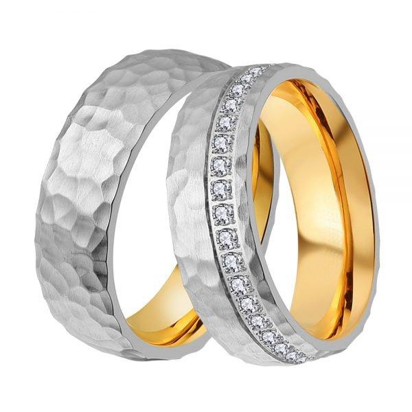 Ocelové snubní prsteny ST-88090