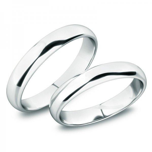 Snubní prsteny z bílého zlata SP-61100-02-B