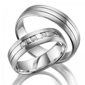 Stříbrné snubní prsteny SP-SI-007
