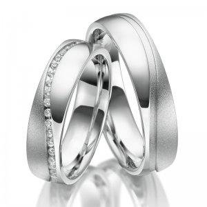Stříbrné snubní prsteny SP-SI-029