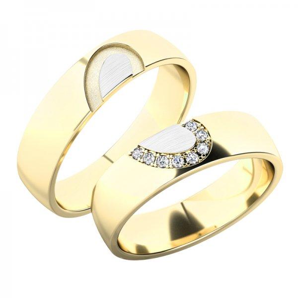 Snubní prsteny ze žlutého zlata SP-61082Z