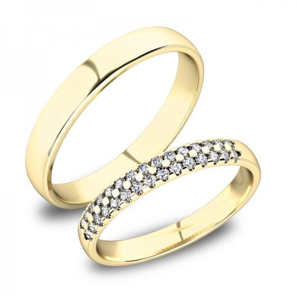 Zlaté snubní prsteny SP-61087Z