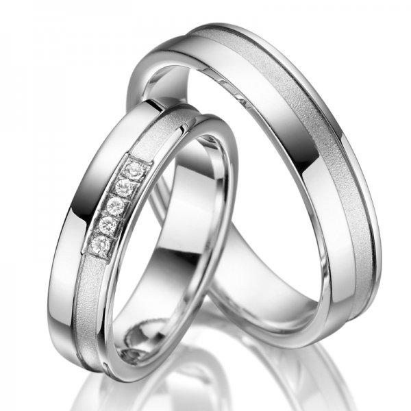 Stříbrné snubní prsteny SP-SI-005