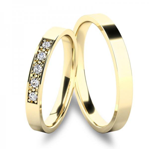Snubní prsteny ze zlata SP-61086Z