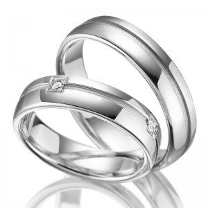 Stříbrné snubní prsteny SP-SI-012