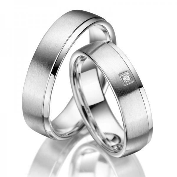 Stříbrné snubní prsteny SP-SI-002