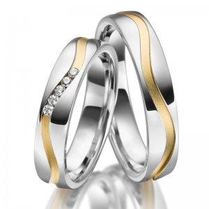 Stříbrné snubní prsteny SP-SI-027
