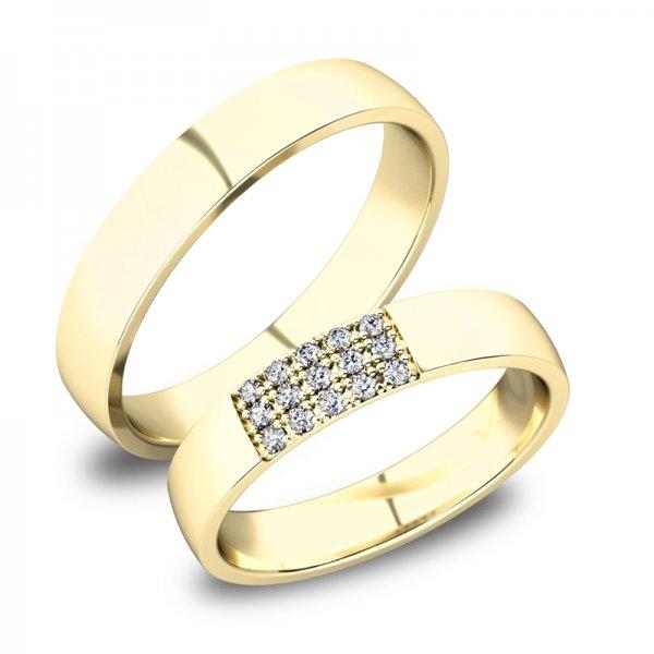 Zlaté snubní prsteny SP-61088Z