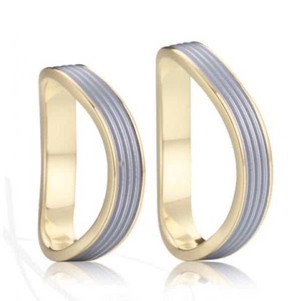 Ocelové snubní prsteny SP-7029