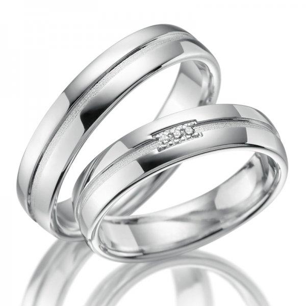 Stříbrné snubní prsteny SP-SI-017