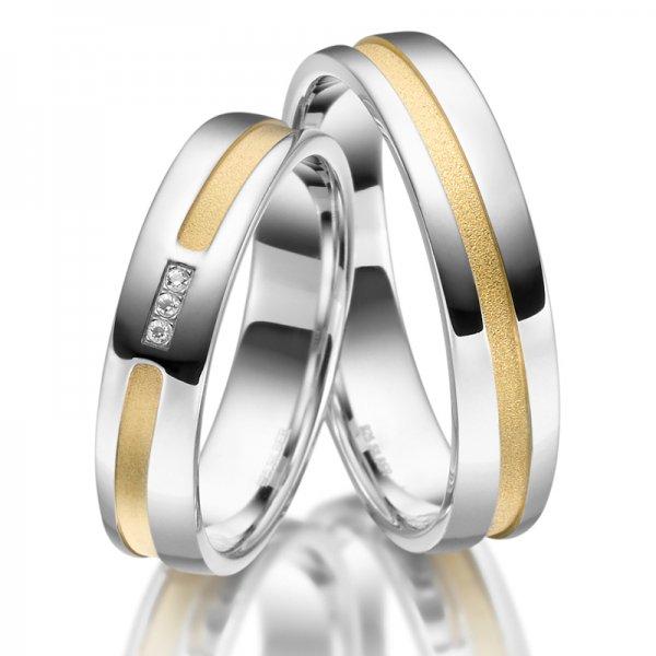 Stříbrné snubní prsteny SP-SI-021