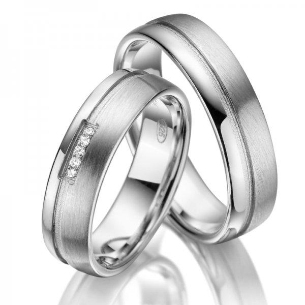 Stříbrné snubní prsteny SP-SI-010