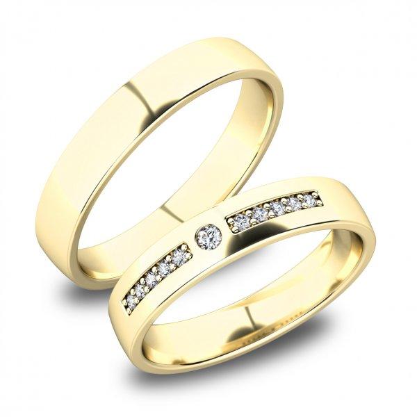 Zlaté snubní prsteny SP-61084Z