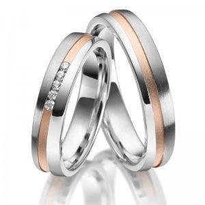 Stříbrné snubní prsteny SP-SI-024