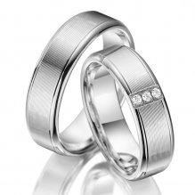 Stříbrné snubní prsteny SP-SI-008