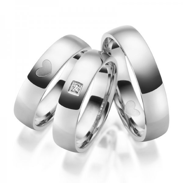 Ocelové snubní prsteny SP-ES-029