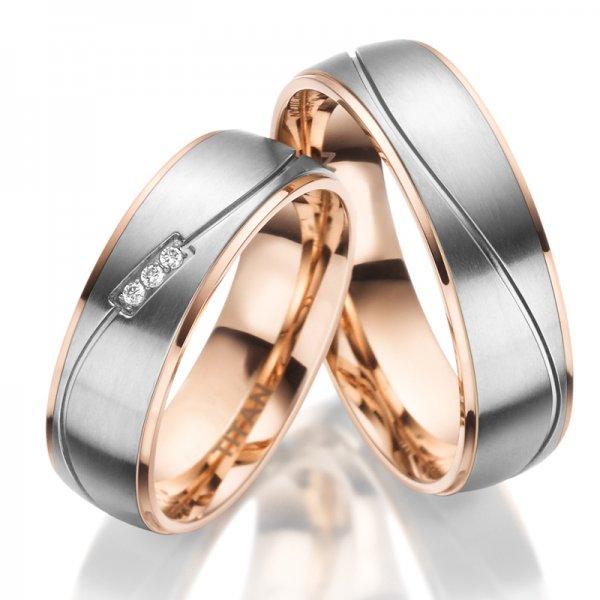 Titanové zlacené snubní prsteny SP-TI-024