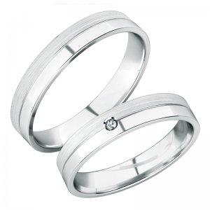 Snubní prsteny z bílého zlata SP-288