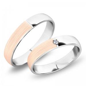 Snubní prsteny kombinované SP-244-KMN