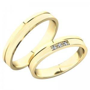 Snubní prsteny ze žlutého zlata SP-61079